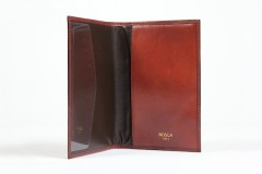 Bosca Passport Case 621-32 32 Cognac Passport Case