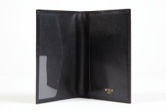 Bosca Passport Case 621-59 59 Black Passport Case