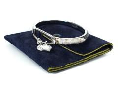 Snakeskin Palladium Bracelet