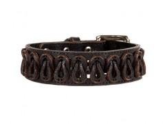 Bosca Belted Bracelet 7009-59 59 Black Belted Bracelet-59 Black