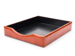 Bosca Letter Tray Without Lid 732-27 27 Amber