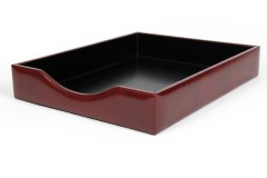 Bosca Letter Tray Without Lid 732-58 58 Dark Brown Letter Tray Without Lid