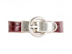 Alligator Bracelet-172 Oxblood-Small