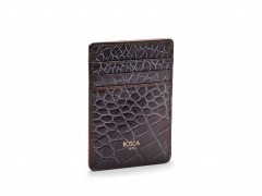 Bosca Deluxe Front Pocket Wallet 78-187 187 Brown/Amber