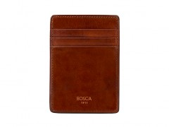 Bosca Deluxe Front Pocket Wallet 78-217 217 Amber