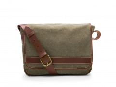 Bosca Tuscan Messenger Bag 803-372 372 Dark Green