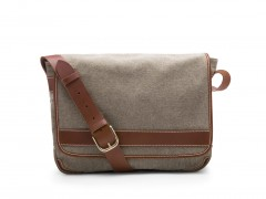 Bosca Tuscan Messenger Bag 803-373 373 Grey