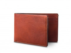 Small Bifold Wallet-132 Cognac