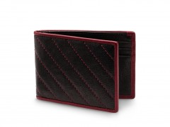 Bosca Small Bifold Wallet 81-161 161 Black/Burgandy