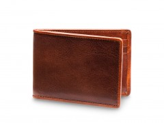Bosca Small Bifold Wallet  81-270 270 Dark Brown w/Amber