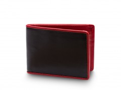 Bosca Small Bifold Wallet  81-271 271 Black/Red