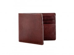 Small Bifold Wallet-658 Dark Brown