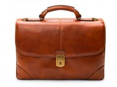 Bosca Flapover Briefcase 813-217 217 Amber