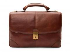 Bosca Flapover Briefcase 813-218 218 Dark Brown