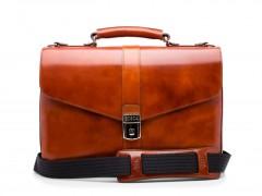 Bosca Flapover Briefcase 815-27 27 Amber