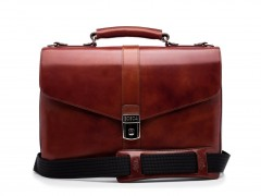 Bosca Flapover Briefcase 815-58 58 Dark Brown