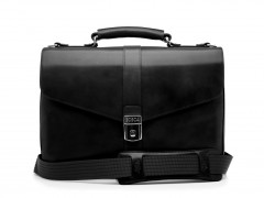 Bosca Flapover Briefcase 815-59 59 Black