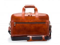 Bosca Single Gusset Stringer Brief Bag 816-27 27 Amber