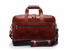 Bosca Single Gusset Stringer Brief Bag 816-58 58 Dark Brown