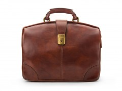 Bosca Soft Partners Briefcase 822-218 218 Dark Brown