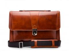 Bosca Thin Envelope Briefcase 829-27 27 Amber