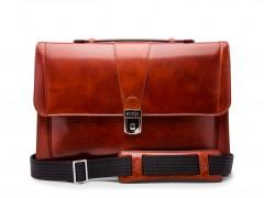 Bosca Thin Envelope Briefcase 829-32 32 Cognac