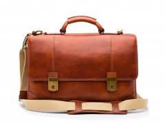 Bosca Double Gusset Flapover Bag 830-217 217 Amber