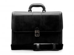 Bosca Double Gusset Brief Bag 833-59 59 Black