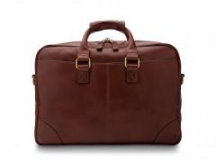 Bosca Zip Top Brief Bag 838-218 218 Dark Brown