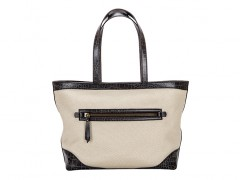 Bosca Fitzroy Tote 853-288 288 Cream/Dark Brown