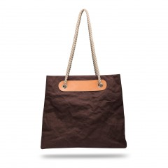 Bosca La Carta Beach Tote 856-910 910 Dark Brown
