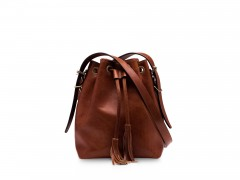 Bosca Mini Bucket Bag 857-218 218 Dark Brown