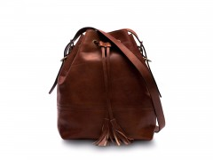 Bosca Classic Bucket Bag 858-218 218 Dark Brown