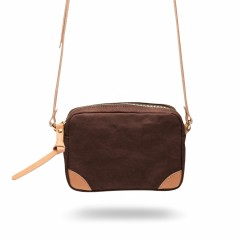 Bosca La Carta City Cross Strap Bag 859-910 910 Dark Brown