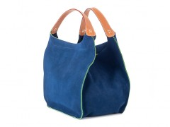The Evelyn Bag-351 Blue