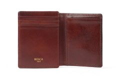 Bosca Front Pocket I.D. Wallet 87-58 58 Dark Brown Front Pocket I.D. Wallet