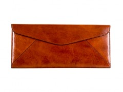 Bosca Leather Envelope 905-27 27 Amber Leather Envelope-27 Amber