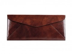Bosca Leather Envelope 905-58 58 Dark Brown Leather Envelope-58 Dark Brown