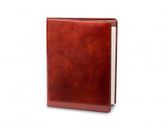 Bosca Deluxe Leather Portfolio 942-32 32 Cognac All Leather Pad Cover 8.5 X 11