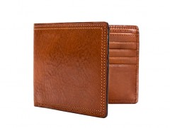 8 Pocket Deluxe Executive Wallet-217 Amber
