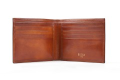 8 Pocket Wallet - Amber - Front Open