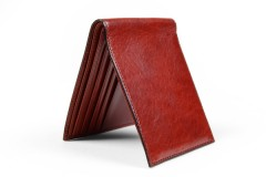 8 Pocket Wallet - Cognac - Vertical