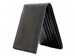 8 Pocket Deluxe Executive Wallet-659 Black