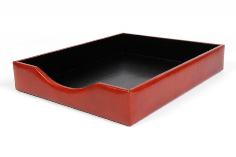 letter tray without lid old leather bosca With letter tray with lid