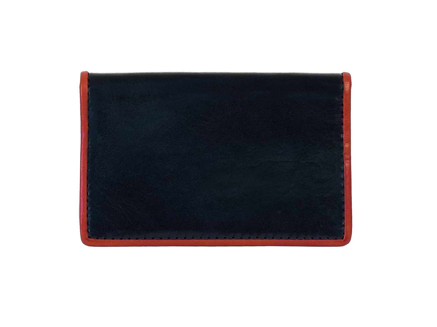Callling Card Case-121 Navy/Red